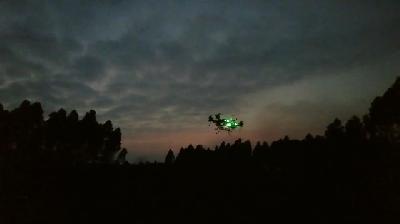 常锋天马植保无人直升机(GP6-45) RTK夜间全自主作业